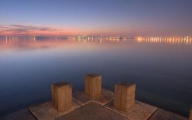 Картинка море, вода, страны, города, океан, вид, дома