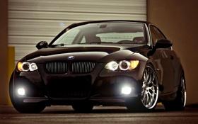 Обои чёрный, бмв, BMW, black, блик, 3 Series