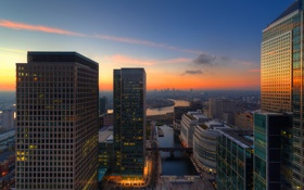 Картинка sunset, city, river, london