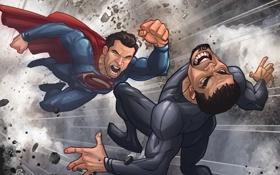 Обои art, patrick brown, Superman, DC Comics, Clark Kent, Человек из стали, Man of Steel