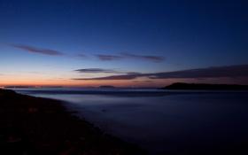 Картинка утро, выдержка, Уэльс, Атлантический океан, Бристольский залив, Кардифф