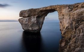 Обои камень, тень, Мальта, Сент-Лоренс, море