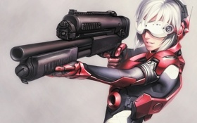 Картинка gun, Ghost in the Shell, kusanagi motoko