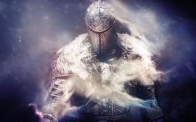 Картинка воин, шлем, мех, доспех, Dark Souls 2