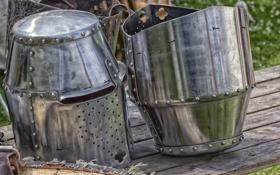 Обои металл, доспехи, средневековье, шлемы