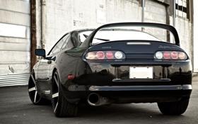 Картинка машина, авто, черная, Toyota Supra