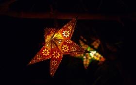 Картинка ночь, звезда, фонарь