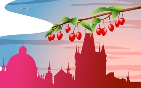 Обои Czech Republic, путешествия, государство, Чехия, башня, ягоды, туризм