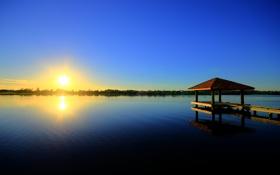 Обои Australia, Gold Coast, восход, Австралия, озеро, утро