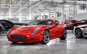 Картинка красный, купе, спорткар, Zagato, AC 378 GT