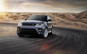 Обои Авто, Джип, Фары, Land Rover, Range Rover, Внедорожник, Sport