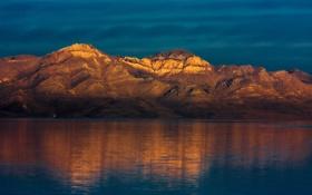 Обои природа, горы, утро, озеро, отражение