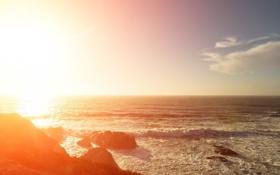 Обои природа, волны, море