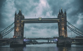 Обои мост, Лондон, Tower Bridge, London, Тауэр