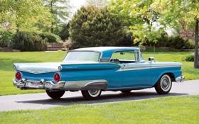 Обои Ford, Форд, 500, Hardtop, 1959, Fairlane, Skyliner