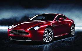 Картинка красный, фон, Aston Martin, суперкар, передок, Астон Мартин, спец.версия