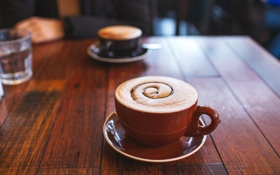 Картинка пена, узор, кофе, кружка, чашка, пенка