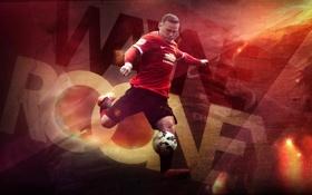 Обои captain, Манчестер юнайтед, Manchester United, Руни, wayne rooney, капитан