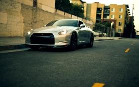 Картинка R35, город, Nissan GT-R, металик, ниссан