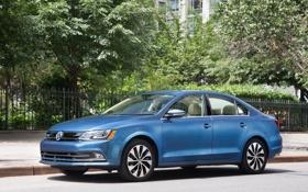 Обои Volkswagen, Jetta, Hybrid, фольксваген, US-spec, 2014, Typ 1B