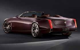 Картинка Concept, фон, Cadillac, Концепт, кабриолет, вид сзади, Кадилак