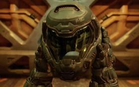 Картинка hands, helmet, metal door, Doom 4