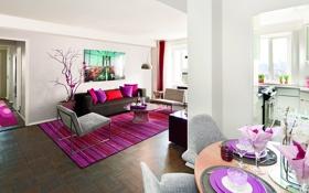 Обои дизайн, new york city, apartment, интерьер, стиль