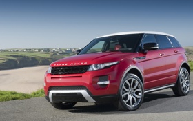 Картинка red, range rover, evoque