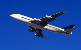 Картинка небо, полет, двигатель, крылья