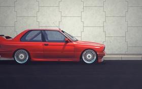Обои BMW, красная, боком