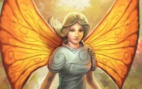 Обои девушка, крылья, фея, фэнтези, арт