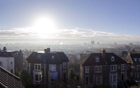 Обои city, house, morning, houses, England, United Kingdom, cold