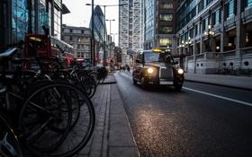 Обои taxi, такси, London, Лондон, улица