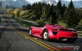 Обои дорога, гонка, Porsche, need for speed, hot pursuit