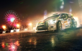 Обои ночь, люди, гонка, dirt, ford, showdown