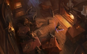 Картинка рисунок, Бар, волшебник