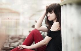 Картинка азиатка, девушка, настроение, стиль