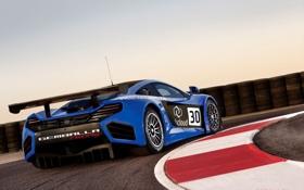 Обои Трасса, cars, auto, паворот, McLaren MP4-12C GT3