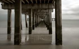 Картинка море, мост, олоры