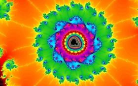 Картинка свет, фрактал, узор, симметрия, цвет