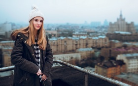 Картинка City, Sky, Model, Beauty, Moscow, Gorokhov, Maryana Ro