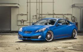 Картинка синий, трубы, Hyundai, blue, хёндай, genesis