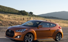 Картинка машина, обои, Hyundai, хёндай, Turbo, Veloster