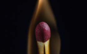 Обои огонь, пламя, спичка