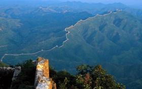 Картинка горы, стена, Китай