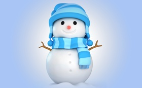Обои winter, christmas, cute, snowman, new year, зима, снег