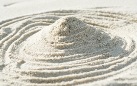 Обои песок, макро, свет, линии, узор, light, design