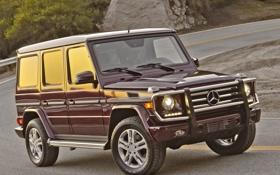Обои фары, Mercedes-Benz, мерс, бампер, передок, G 550
