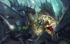 Обои starcraft, diablo, crusader, Heroes of the Storm, Johanna, Crusader of Zakarum, zagara