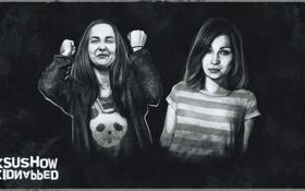 Обои девушки, инди, art, хоррор, ksushow, kidnapped, Indie-horror